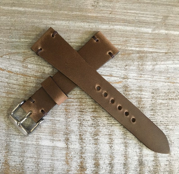 20/16mm Natural Horween Chromexcel watch strap/band