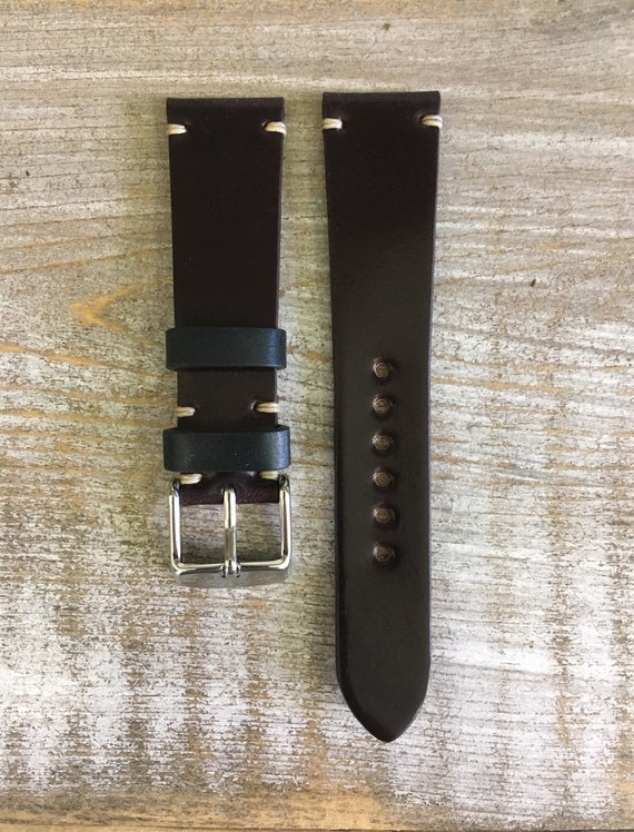 19/16mm Color #8 Horween Shell Cordovan watch band