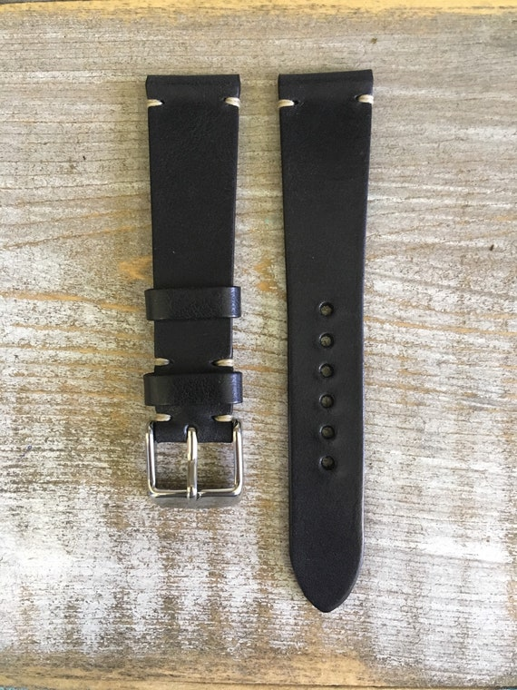 19/16mm Classic Italian Calf watch band - Black