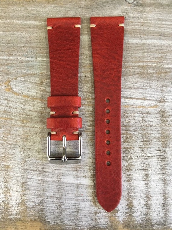 20/16mm Classic Italian Calf watch band - Cherry