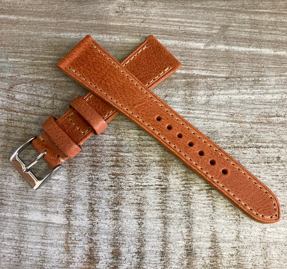 20/16mm Classic Italian Calf watch band - Antique Sandstone