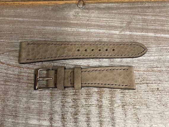 20mm Italian Nubuck watch band - Pebble Grey