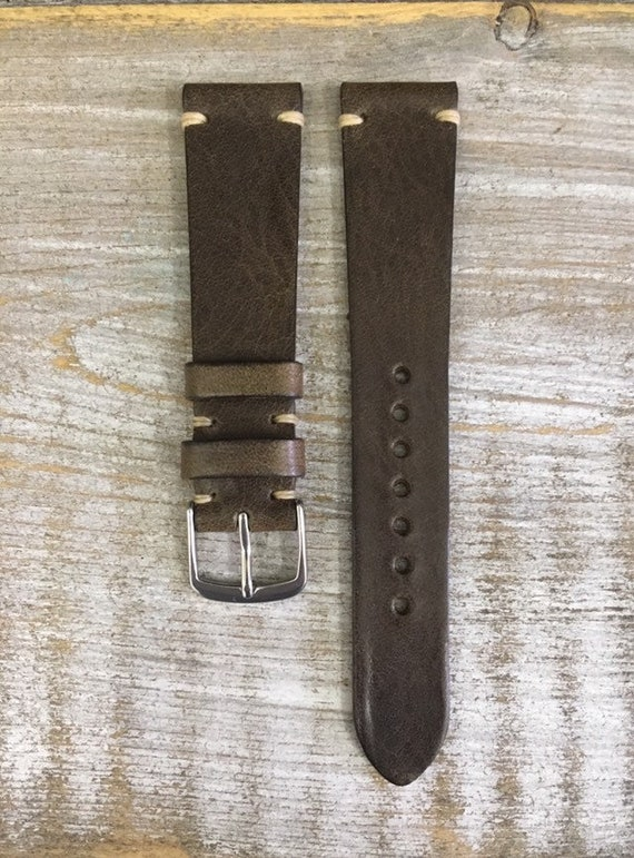 19/16mm Classic Italian Calf watch band - Antique Green