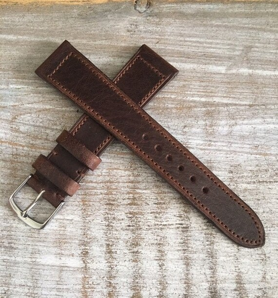 Classic Italian Calf watch band - Oak Brown