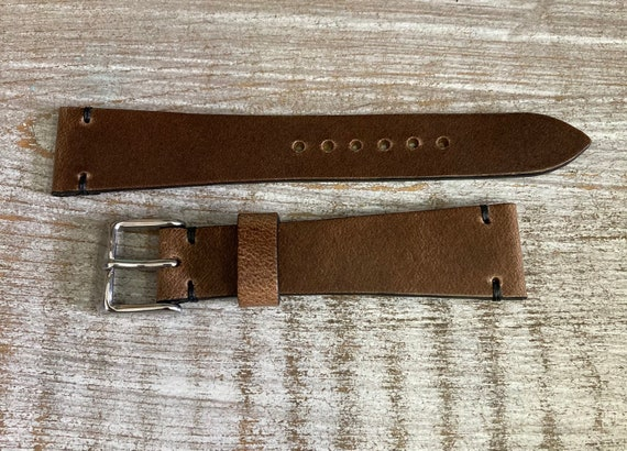 20mm Natural Horween Chromexcel watch strap/band
