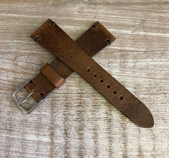 20mm Italian Calf watch band - Oak brown