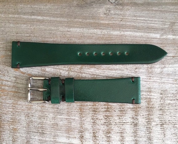20/16mm Green Italian Shell Cordovan watch band