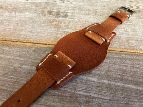 20mm English Tan Horween Derby BUND strap