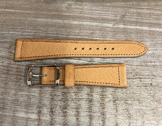 20mm Pigskin watch band - Natural