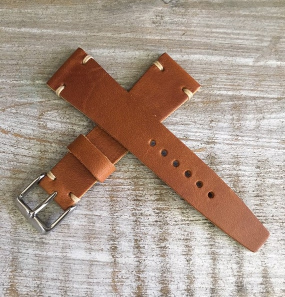 20/16mm VTG Style Italian Calf watch band - Tan