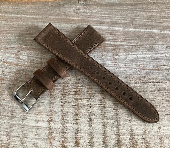 20/16mm Classic Italian Calf watch band - Antique Brown