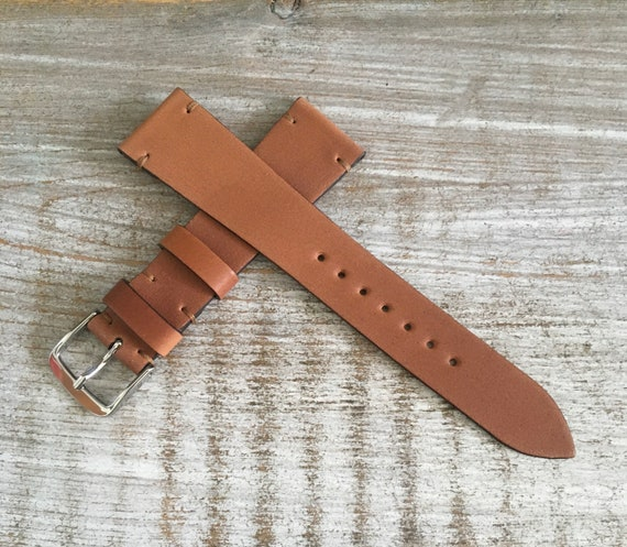 20mm Natural Horween Shell Cordovan watch band