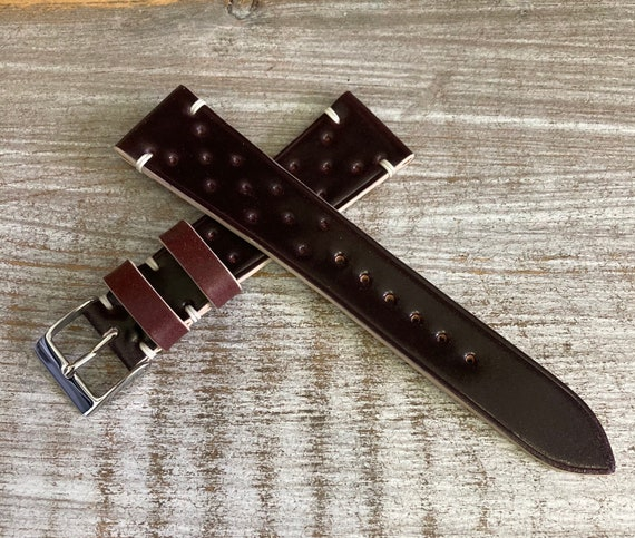 20mm Color #8 Horween Shell Cordovan watch band