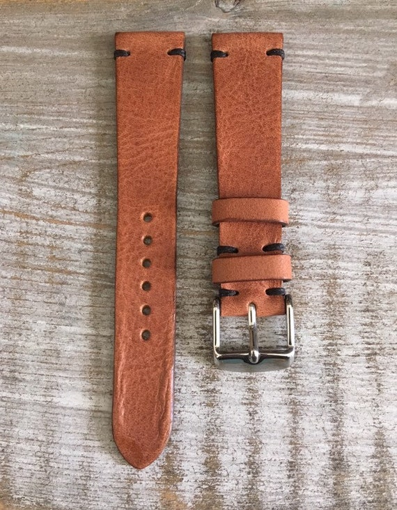 19/16mm Classic Italian Calf watch band - Tan