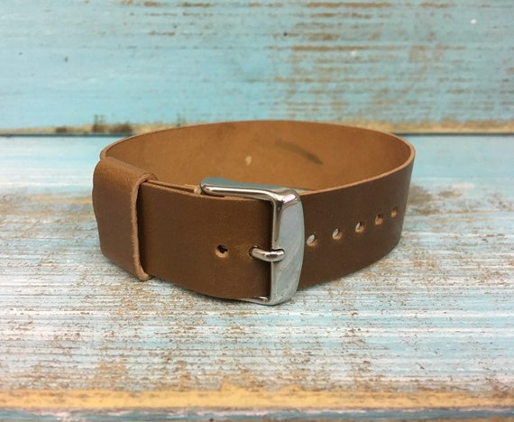 20mm Whiskey Horween Shell Cordovan 1 piece strap