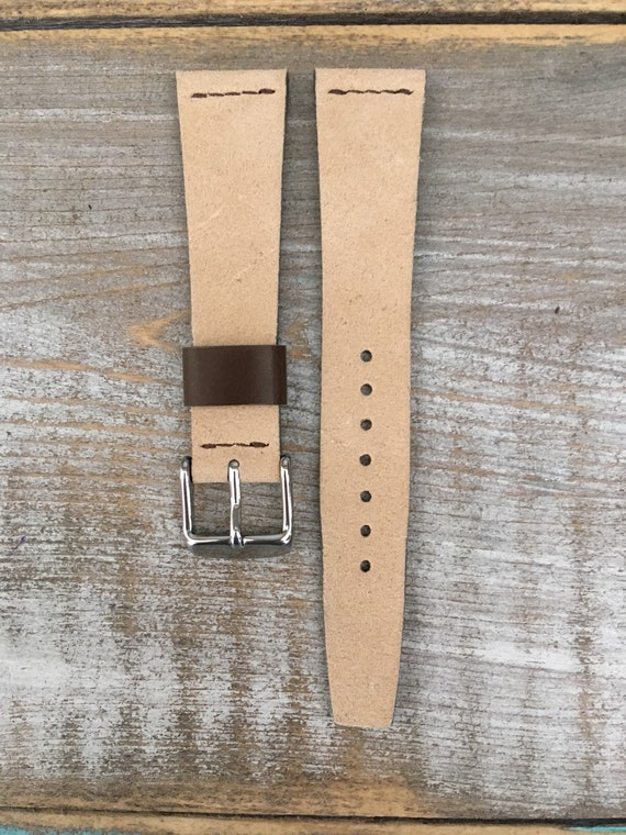 VTG style Suede watch band - Sand