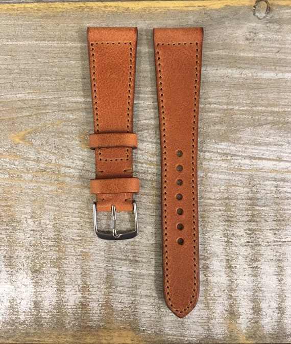 20/16mm Classic Italian Calf watch band - Antique Tan