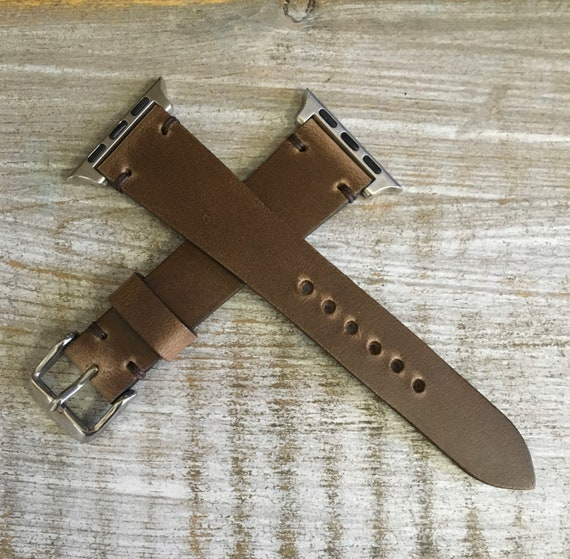 Natural Horween Chromexcel watch strap/band for Apple Watch