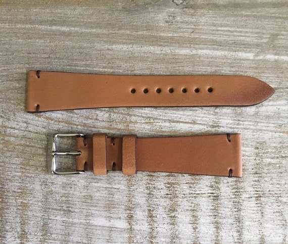 Natural Horween Shell Cordovan watch band