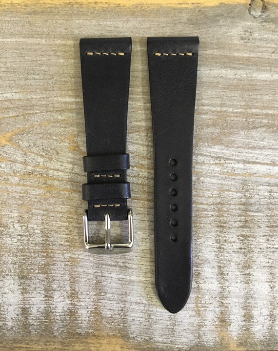 20/16mm Classic Italian Calf watch band - Black