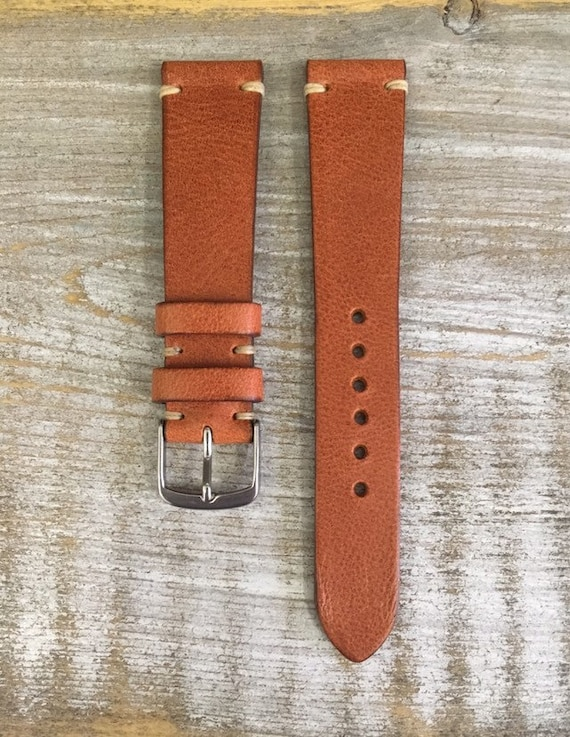 19/16mm Classic Italian Calf watch band - Dark Tan