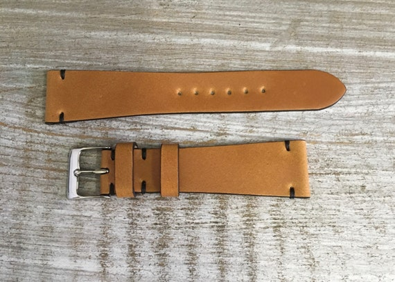 20mm Whiskey Italian Shell Cordovan watch band