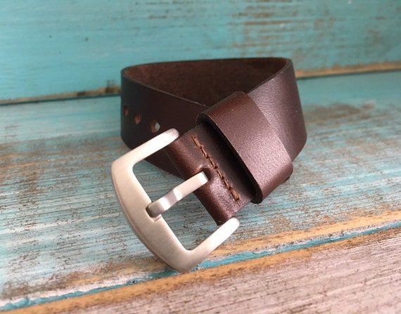 22mm Brown Horween Chromexcel 1 piece strap