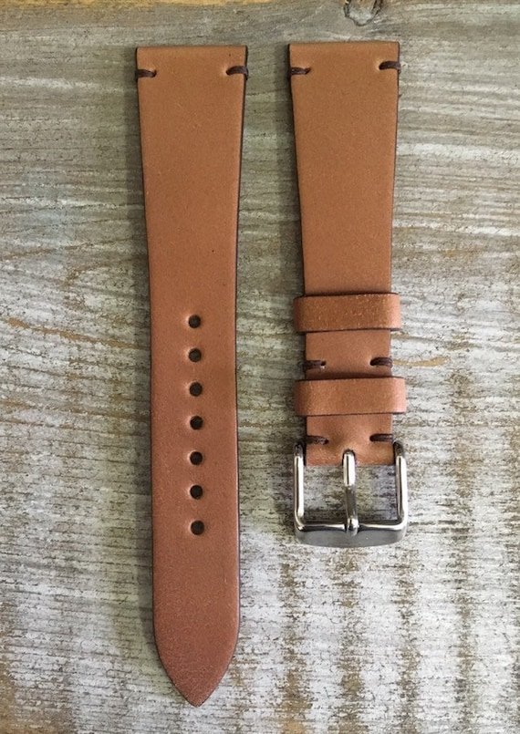 20/16mm Natural Horween Shell Cordovan watch band