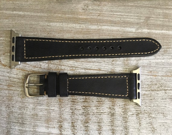 Classic Italian Calf watch band - Black for Apple Watch