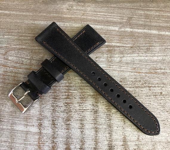20/16mm Classic Italian Calf watch band - Antique Black
