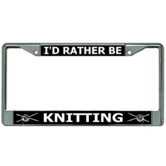 Id Rather Be Geocaching Chrome License Plate Frame