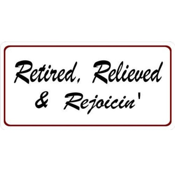 RETIRED License Plate FREE SHIPPING!!!