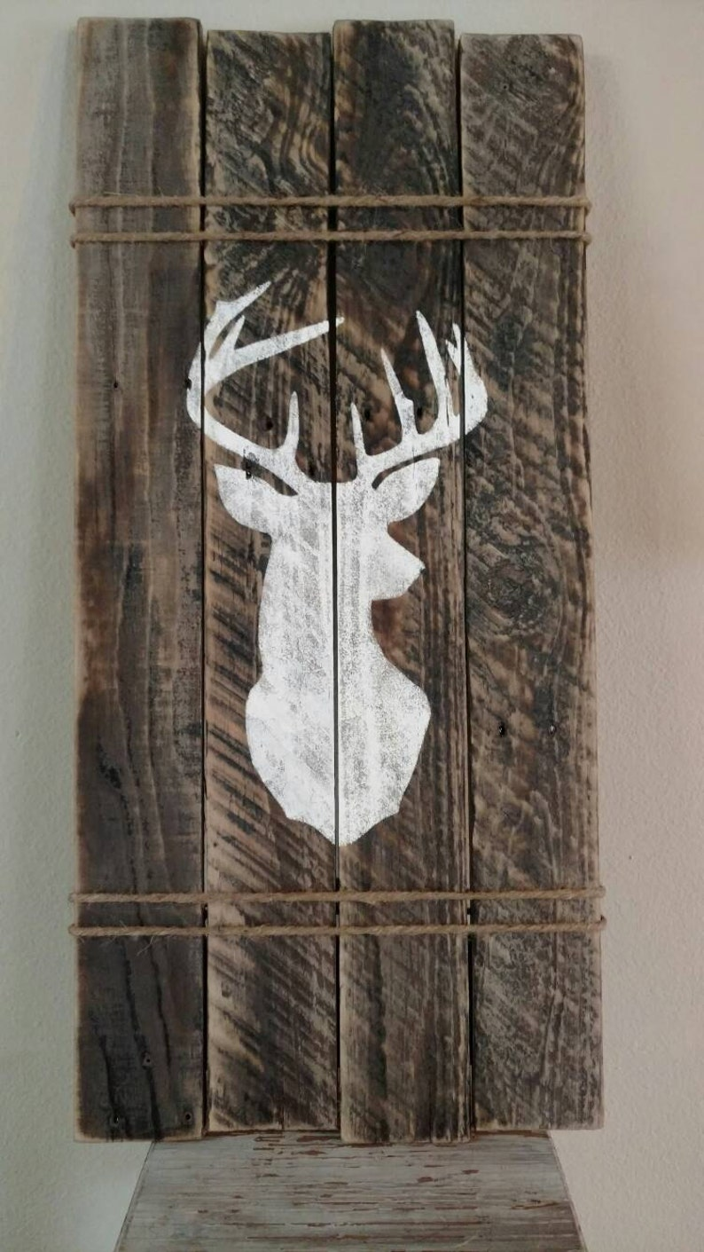 Pallet Deer Head Wall Art