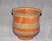 Pottery, kitchen utensil holder, wheel thrown pottery,  kitchen pottery, ceramic pottery