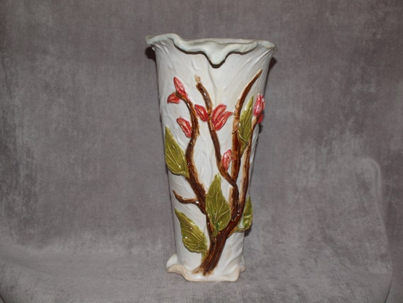 Pottery Vase Sculpted Vase Tall Vase Clay Vase Floral Etsy