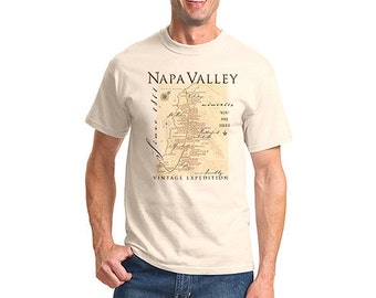 Napa Valley Winery Map Tees
