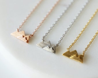 Dainty Mountain Pendant Necklace, Super Tiny Mountain Necklace, Birthday Gift