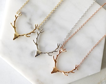 Bewitched ~ Deer Antler /& Crystal Rustic Necklace ~ Your Choice