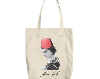 ae0d277c3a2d Coco Chanel Arabic Tote Bag