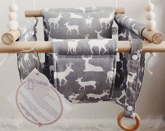 Baby swing, toddler swing, indoor swing, outdoor swing, holiday swing, deer swing, moose swing, fabric swing, baby gift