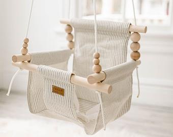 toddler swing indoor swing Christmas Baby Gift Baby swing baby swing nursery decor High back Baby swing Free Shipping