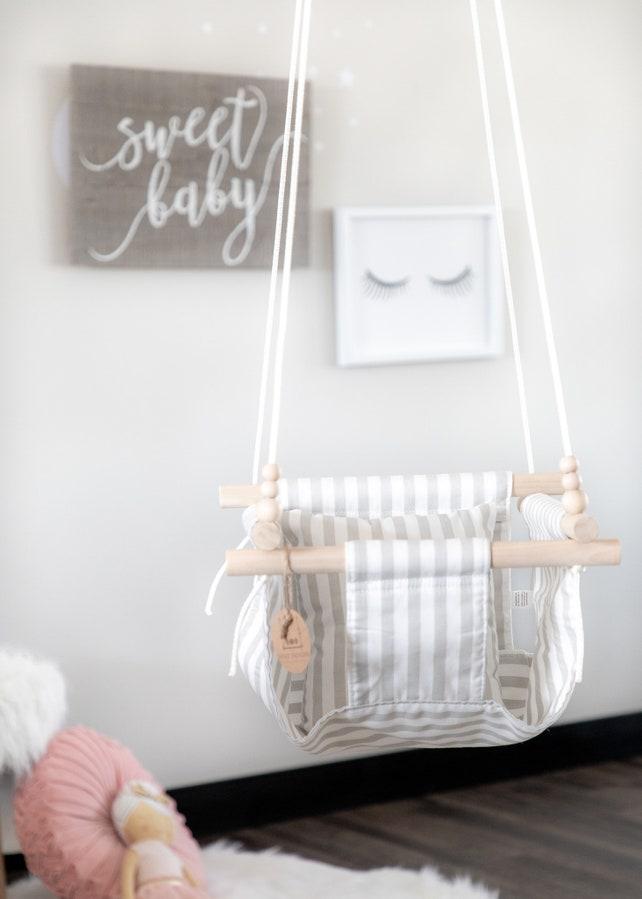 gestreiften Stoff babyschaukel indoor Schaukel   Etsy