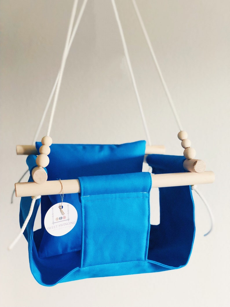 Automatische Schommel Baby.Baby Schommel Turquoise Baby Schommel Peuter Swing Etsy