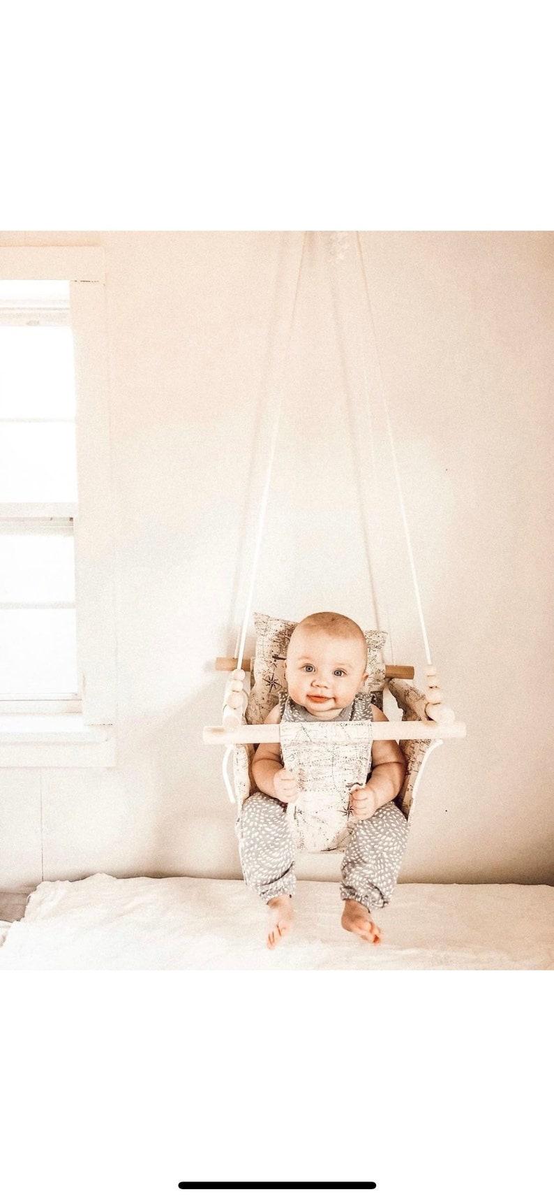 Automatische Schommel Baby.Kaart Swing Baby Schommel Baby Stof Swing Indoor Schommel Buiten Swing Schommeling Van De Portiek Decor Van De Kwekerij Peuter Swing Houten