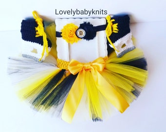 c27526258 Boston Bruins Baby Girl Tutu   Headband...Newborn Photo Prop Set