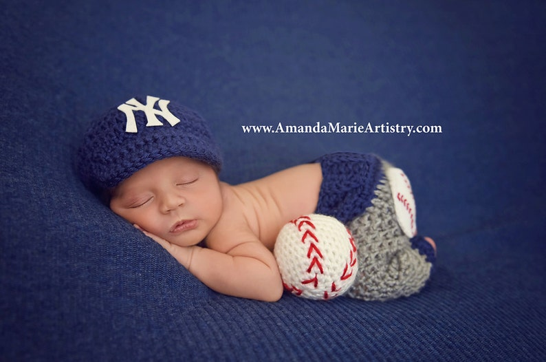 ada952e52 Baseball outfit Baby Baseball Cap ,Diaper cover or pants,,, crochet baby  shower gift, Newborn Baby PHOTO PROP