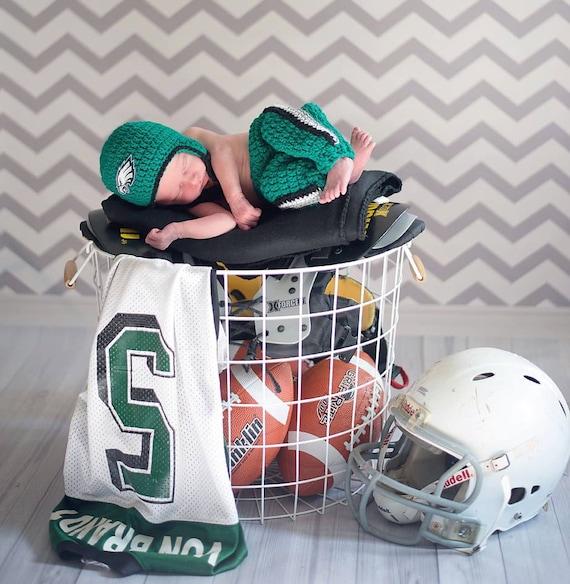 Football Team Baby Boy Girl Philadelphia Eagles Football Helmet Crochet Baby Shower Gift Philadelphia Eagles Baby Ha