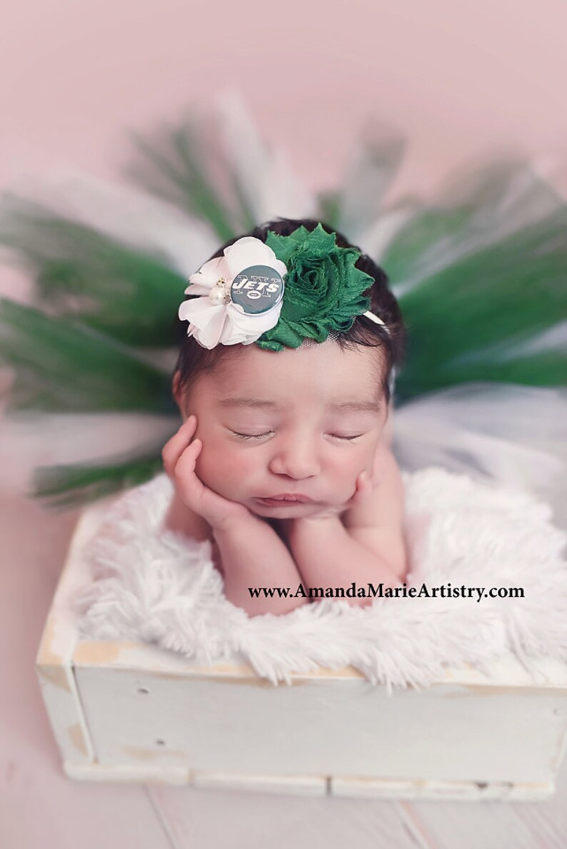 a9f2e46e936 New York Jets Baby girl outfit Football tutu and