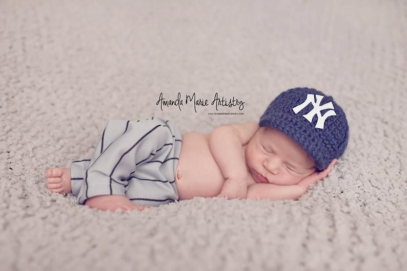 2745ea71aa2 Newborn Newborn NYcrochet Baseball CapCrochet Yankees