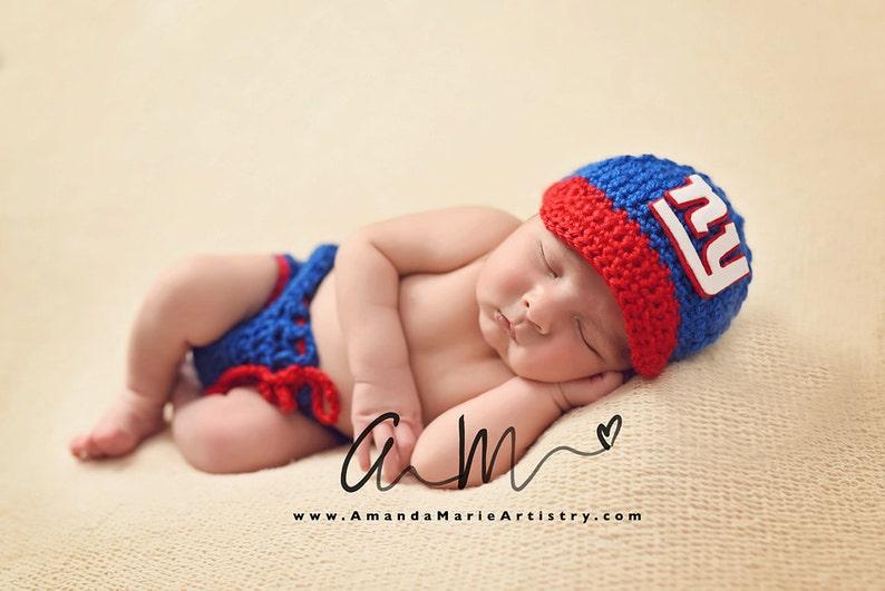 66416e38dbb Baby Boy New York Giants Football Cap Diaper Cover Baby